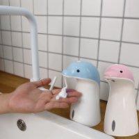 (리필액x2 포함) 라비스코 뽀득이 자동손세정기 디스펜서 손세정제 돌고래 자동 핸드워시
