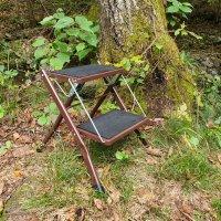 칸첸중가 고든밀러 스타일 멀티 캠핑 쉘프 워터저그 쿨러 스탠드 접이식 사다리 선반 용품