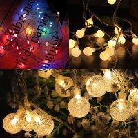 감성 캠핑 전구 LED 줄조명 스트링 파티 라이트 알전구 오징어등 와이어 앵두 야외 조명 무드등