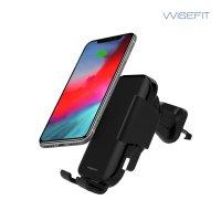 와이즈핏 15W 스마트 스캔 차량용 핸드폰 거치대 고속 무선 충전기
