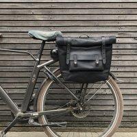 그루비 레더 사이클백. 자전거 가방 왁스 가죽 새들백 미니벨로 프레임 수납 거치 여행