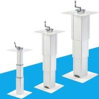 캠핑카 카라반 알루미늄 높이조절 테이블 다리 홀컷터포함 21-85cm