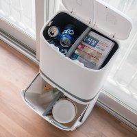 가정용 재활용 분리수거함 분리수거카트 바퀴달린 대용량 쓰레기통 2단