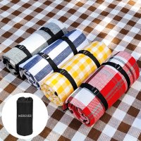 두꺼운 피크닉 매트 쿠션 돗자리 캠핑용품 체크