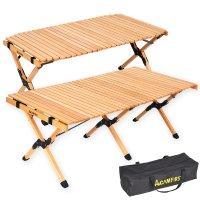 접이식 원목 캠핑 테이블 우드롤테이블 900 1200