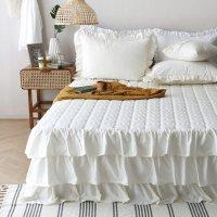 로맨틱 프릴 순면침대커버 침대스커트 SS/Q/K